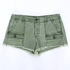 AMERICAN EAGLE Womens Green Cargo Cut Off Shorts 2
